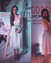 Dipannita Sharma at an event to launch the book of her friend Shvetha Jaishankar in an outfit by Shela Khan Picture: Instagram