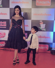 Divya Khosla Kumar in an outfit by Lebanese designer Moe Shour for the Nickelodean Awards Picture: Instagram