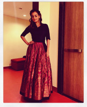 Dia Mirza in Payal Khandwala for the Sanctuary Awards