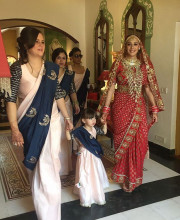 Hazel Keech in her wedding saree by Ashley Rebello Picture: Instagram