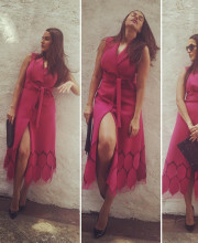Neha Dhupia wearing Dolly J for a talk show