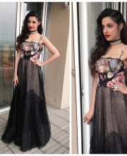 Divya Khosla Kumar in a Sandra Mansour Dress