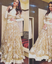 Neha Dhupia wearing Rahul Mishra and Sunita Shekhawat