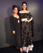 Kriti Sanon looking glamorous in a Masaba Gupta outfit