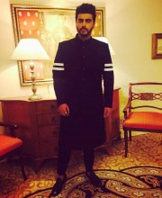 Arjun Kapoor wearing an outfit from Falguni and Shane Peacock