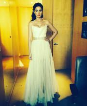 Nargis Fakhri in a gorgeous white coloured gown