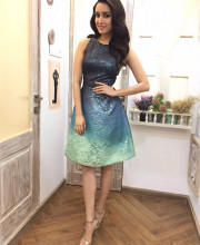 Shraddha Kapoor wearing Theia Couture on the Kapil show for promotions of OK Jaanu