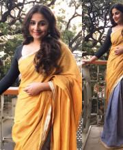 Vidya Balan wearing a two tone pure khadi saree by Payal and Zinal