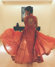 Tapsee Pannu in an outfit by Myoho and accessories by Ritika Sachdeva in Hyderabad