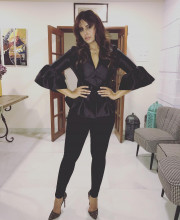 Huma Qureshi wearing a Black Coloured Outfit by Madison on Peddar