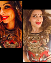Bipasha Basu in a dress by Rocky S for her birthday