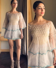 Yami Gautam in an outfit from Not So Serious by Pallavi Mohan for the promotions of Kaabil