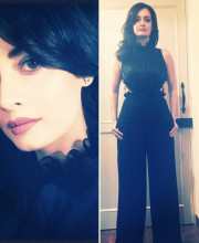 Dia Mirza in a Lola by Suman B jumpsuit, earrings by the Diamond Gallery and ring by H Ajoomal