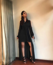 Yami Gautam ready for the promotions of Kaabil in a black coloured dress