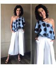 Tapsee Pannu wearing Bennch for the promotions of her movie Running Shaadhi Dot Com