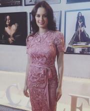 Evelyn Sharma in a Manav Gangwani dress for the calendar shoot by Dabboo Ratnani