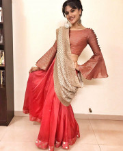 Tapsee Pannu in a Myoho outfit and shoes by Pastels and Pop