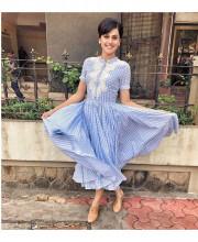 Tapsee Pannu wearing a dress from Ritu Kumar