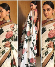 Deepika Padukone in a khadi saree from Sabyasachi Mukherjee