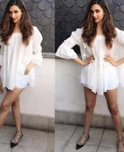 Deepika Padukone Flaunts White Summer Dress