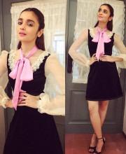 Alia Bhatt Looks Stylish In Black Gucci Dress
