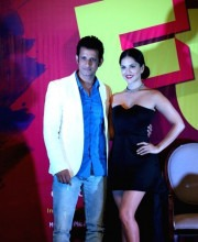 Sunny Leone Attends Even In An Off-ShoulderLittle Black Dress