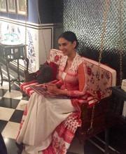Aditi Rao Hydari at the Flagship Store of Anita Dongre