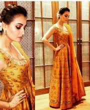 Dia Mirza Wears Festive Anita Dongre Outfit