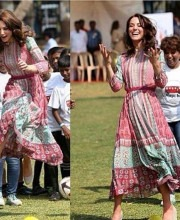 Kate Middleton in the Gulrukh Tunic Dress from Anita Dongre