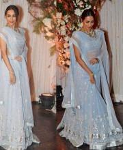 Malaika Arora Khan in a Blue Lehenga by Anita Dongre