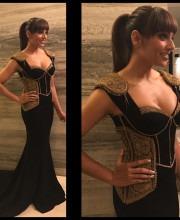 Bipasha Basu in a Black Shantanu Nikhil Dress for Filmfare