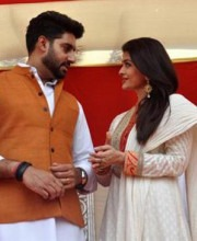 "A Happy Couple Celebrating ""Gudhi Padwa"" Aishwarya and Abhishek