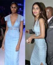 Vaani Kapoor in Indian fashion designer Anita Dongre's dress