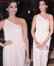 Sonam Kapoor in Grecian Dress by Indian Fashion Designer James Ferreira
