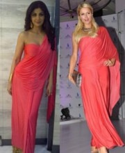 Malini Ramani - Shilpa Shetty & Paris Hilton in a Saree by Malini Ramani