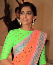 Manish Arora - Sonam Kapoor in Neon Manish Arora Saree