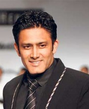 Manoviraj Khosla - Anil Kumble wears a Manoviraj Khosla Jacket on the Ramp at a Fashion Show
