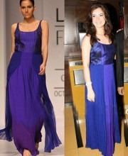 Nachiket Barve - Urvashi Sharma in a Nachiket Barve Dress
