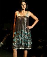 Narendra Kumar - Katrina Kaif in a Narendra Kumar Dress