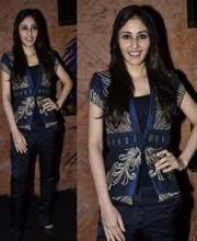 Pooja Chopra in Indian fashion designer Narendra Kumar jacket