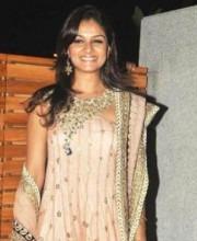 Payal Singhal - Tejaswini Kolhapure in a Payal Singhal Dress