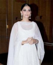 Sonam Kapoor in a Designer Anarkali Suit by Indian Designer Rohit Bal