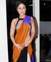 Kareena Kapoor Spotted in Indian Saree at Filmfare's September Launch Event