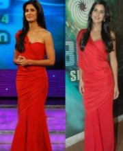 Indian Designer Tarun Tahiliani's Dress on Bollywood Star Katrina Kaif