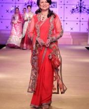 Bollywood star Sharmila Tagore for Ashima Leena at Delhi Couture Week