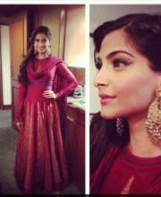 Indian actress Sonam Kapoor in Rohit Bal indian fashion designer