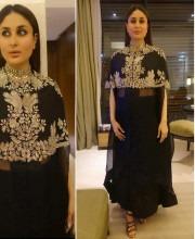 Kareena Kapoor in a Black Anamika Khanna Outfit in Kolkata