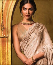 Deepika Padukone in a Saree by Tarun Tahiliani for Tanishq Jewellery