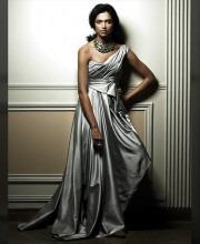 Deepika Padukone in a Silver Tunic by Tarun Tahiliani