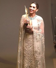 Deepika Padukone Looks Every Bit a Winner in Lace Lehenga